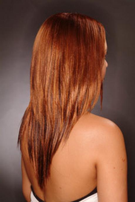 Coupe dégradée cheveux longs
