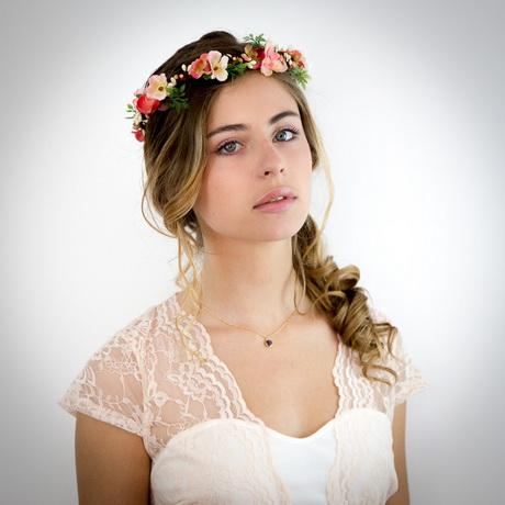 couronne de fleurs cheveux mariage